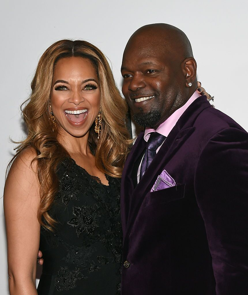 Miss Virginia USA 1993 Patricia Smith and her husband, former NFL player and pageant judge Emmitt Smith, attend the 2015 Miss Universe Pageant at Planet Hollywood Resort & Casino on December 20, 2015   Photo: Getty Images