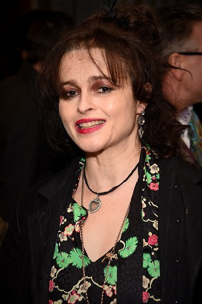 "Helena Bonham Carter at the press night performance of ""Hamilton"" at The Victoria Palace Theatre 
