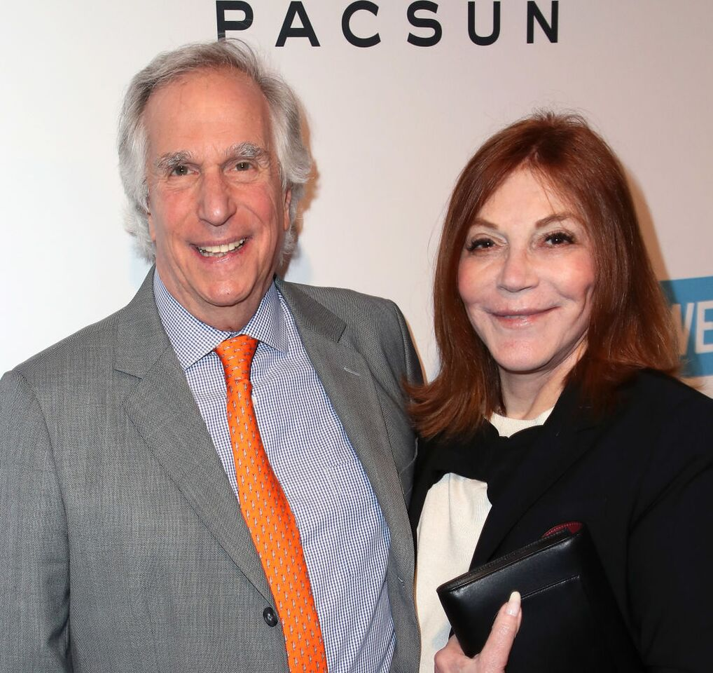 Henry Winkler and Stacey Weitzman attend the Purpose x PacSun party. | Source: Getty Images