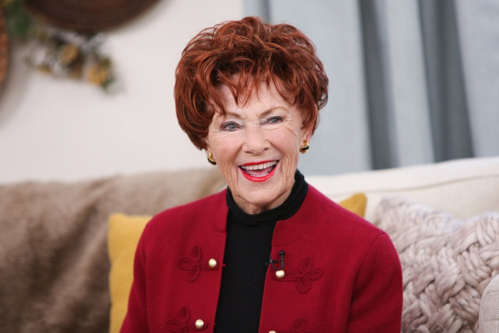 """Marion Ross visiting """"Home & Family"""" in Universal City, California, in January 2019. 