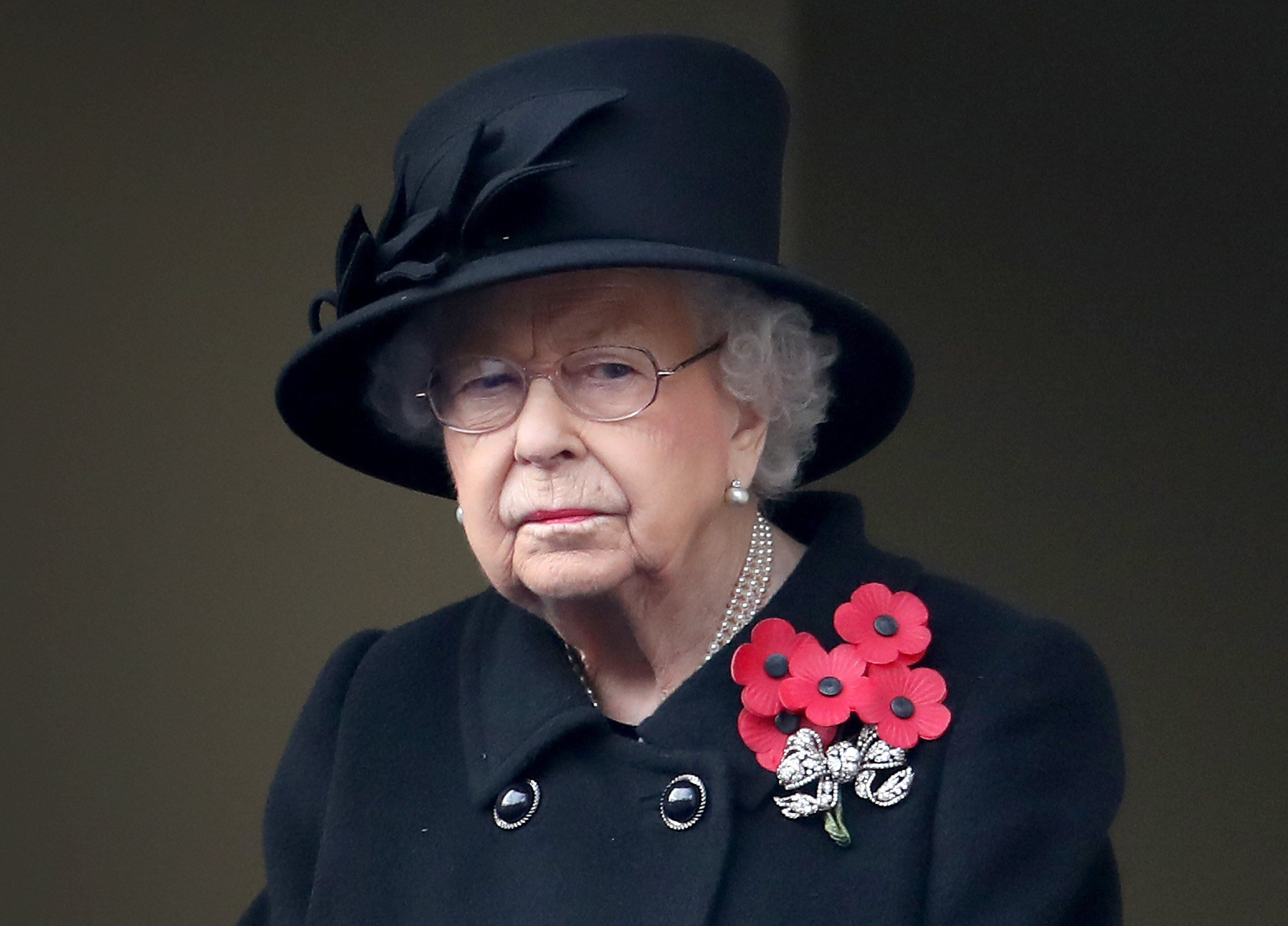 Queen Elizabeth at the Service of Remembrance at the Cenotaph  in November 2020 | Photo: Getty Images