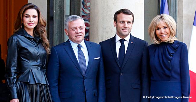 Découvrez la tenue élégante que Brigitte Macron portait pour rencontrer la belle Rania de Jordanie