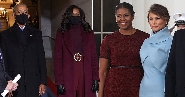 Michelle Obama's Recent Burgundy Outfit Compared to Look From 2017 Inauguration — See Comments