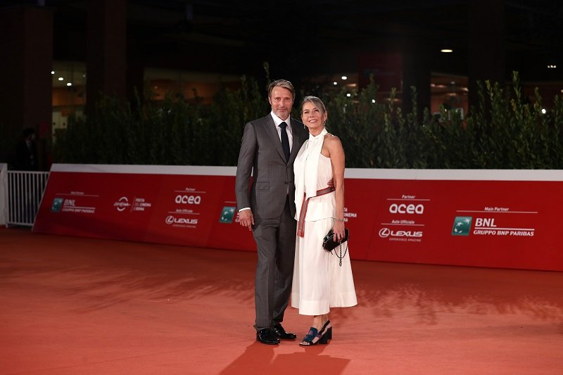 Mads Mikkelsen and Hanne Jacobsen on October 20, 2020 in Rome, Italy | Photo: Getty Images