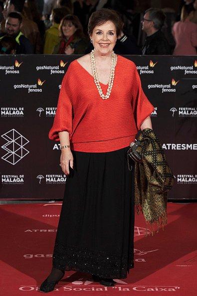 MALAGA, ESPAÑA - 19 DE ABRIL: La actriz Monica Randall asiste a la premier de 'Sin Fin' durante el 21º Festival de Cine de Málaga en el Teatro Cervantes el 19 de abril de 2018 en Málaga, España. | Fuente: Getty Images