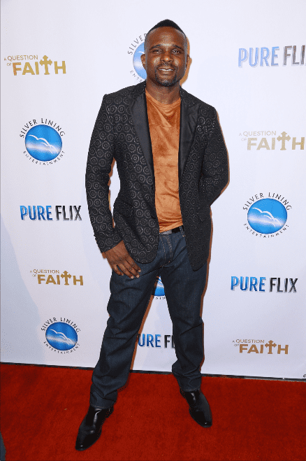 """Darius McCrary attends the premiere of Pure Flix Entertainment's """"A Question Of Faith"""" at Regal 14 at LA Live Downtown on September 27, 2017 in Los Angeles, California. 