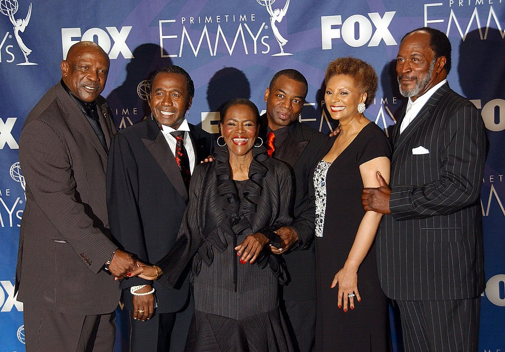 """Ben Vereen, Cicely Tyson, LeVar Burton, and other """"Roots"""" cast members at the 59th Annual Primetime Emmy Awards at the Shrine Auditorium on September 16, 2007 in Los Angeles, California.