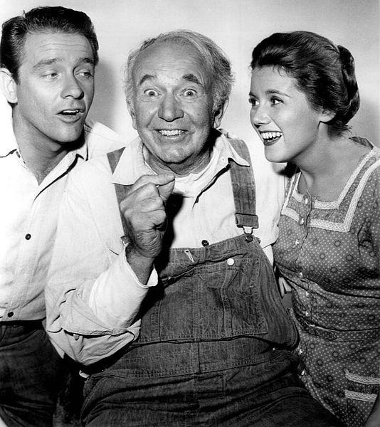 "Richard Crenna as Luke McCoy, Walter Brennan as ""Grampa"" Amos McCoy and Kathy Nolan as Kate McCoy from the television program ""The Real McCoys."" 