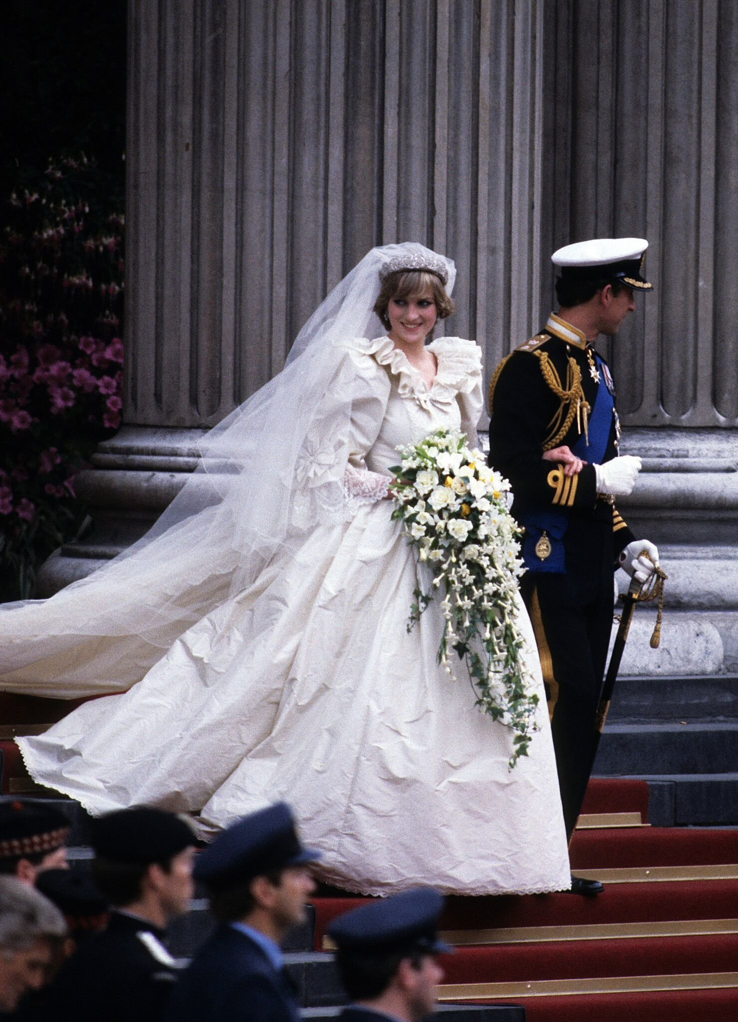 Princess Diana and Charles, Prince of Wales, on their wedding day | Getty Images