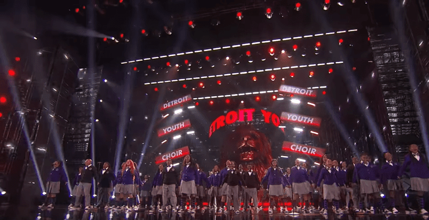 """The Detroit Youth Choir perform their rendition of Carrie Underwood's """"Champion"""" on """"America's Got Talent.""""   Source: YouTube/America's Got Talent"""