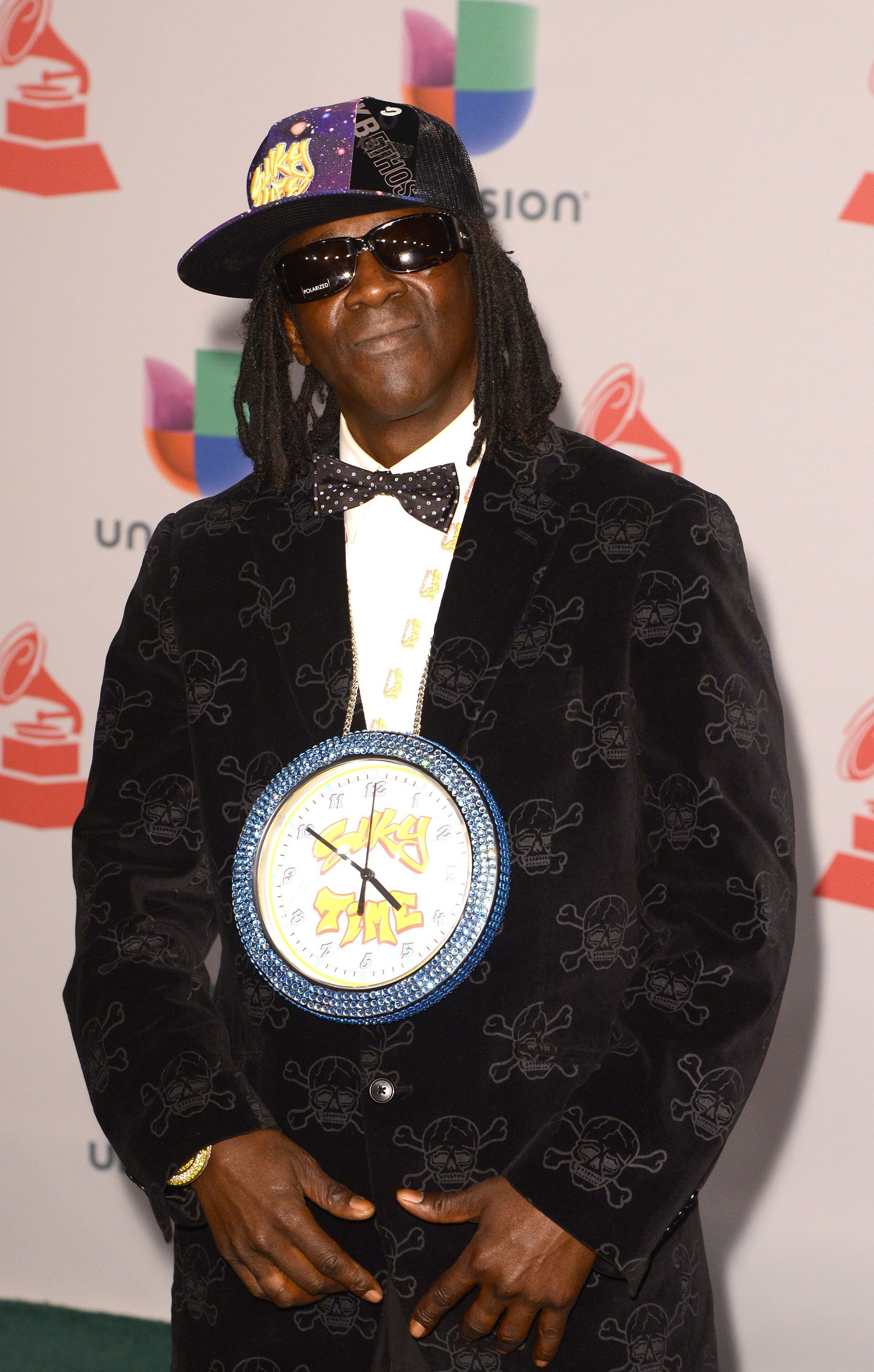 Flavor Flav at the 15th Annual Latin Grammy Awards in 2014. | Photo: Getty Images
