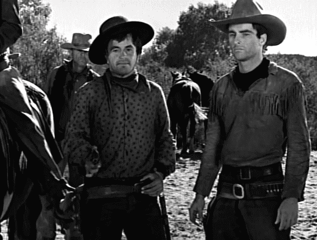 "Screenshot from a public domain trailer for the 1948 film, ""Red River."" 