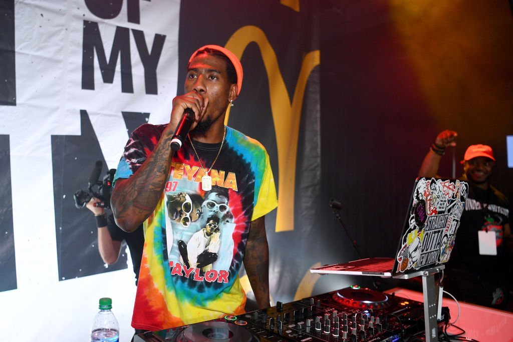 "Iman Shumpert performs at the kick off of McDonald's ""Beat Of My City"" at Pier 36 in New York City 