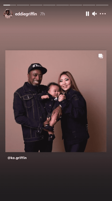 A photo of Eddie Griffin, his wife and their son on his Instagram story   Photo: instagram.com/eddiegriffin/