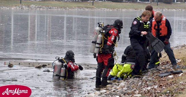Cet homme meurt après avoir sauté dans un étang glacé pour sauver un chien qui se noyait