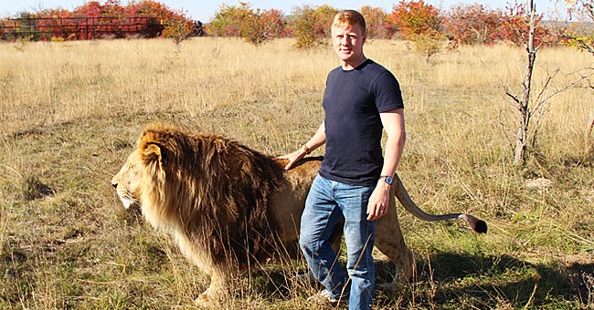 A man and a Lion on a journey together.   Photo: Shutterstock