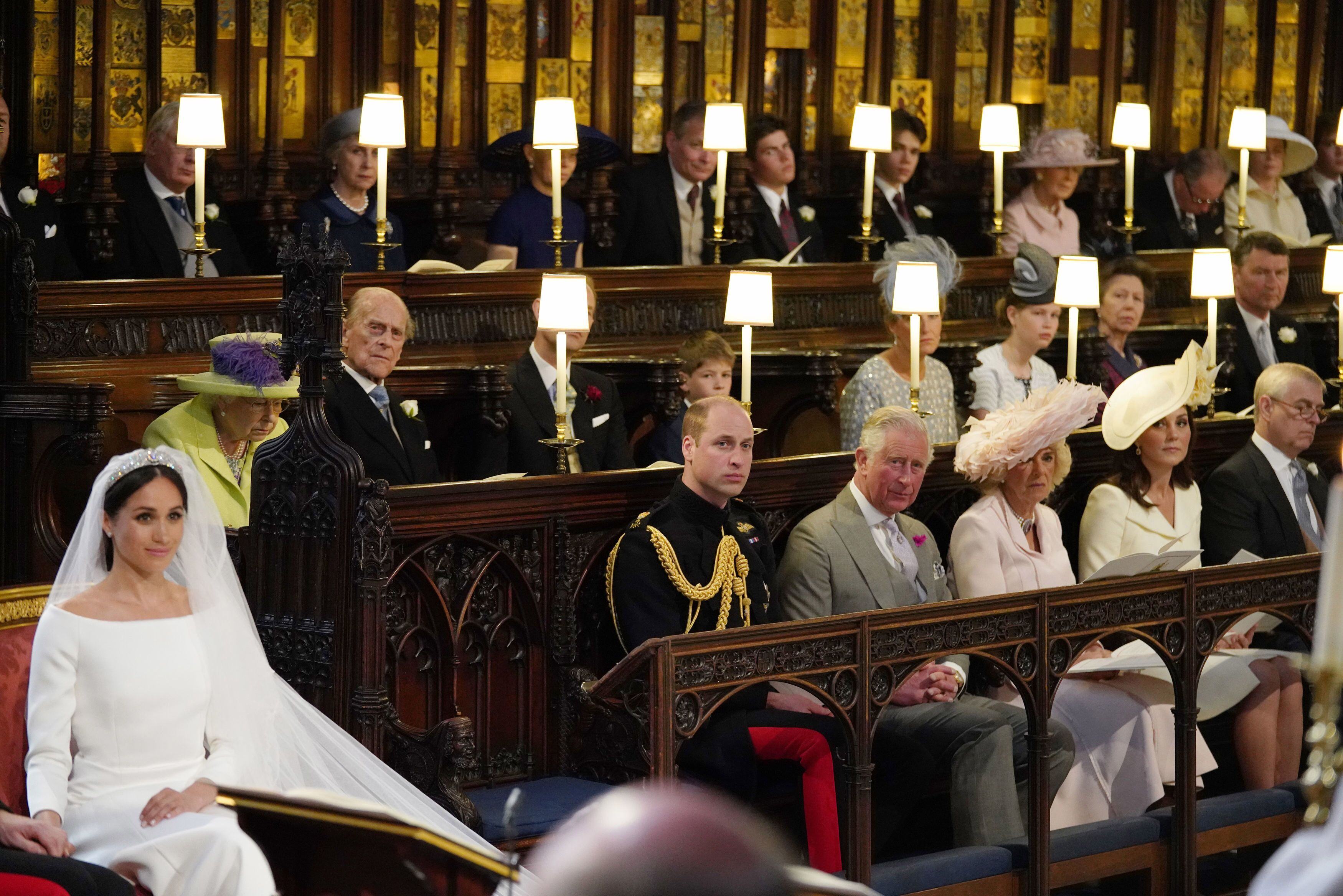 Meghan Markle and guests during the royal wedding. | Source: Getty Images