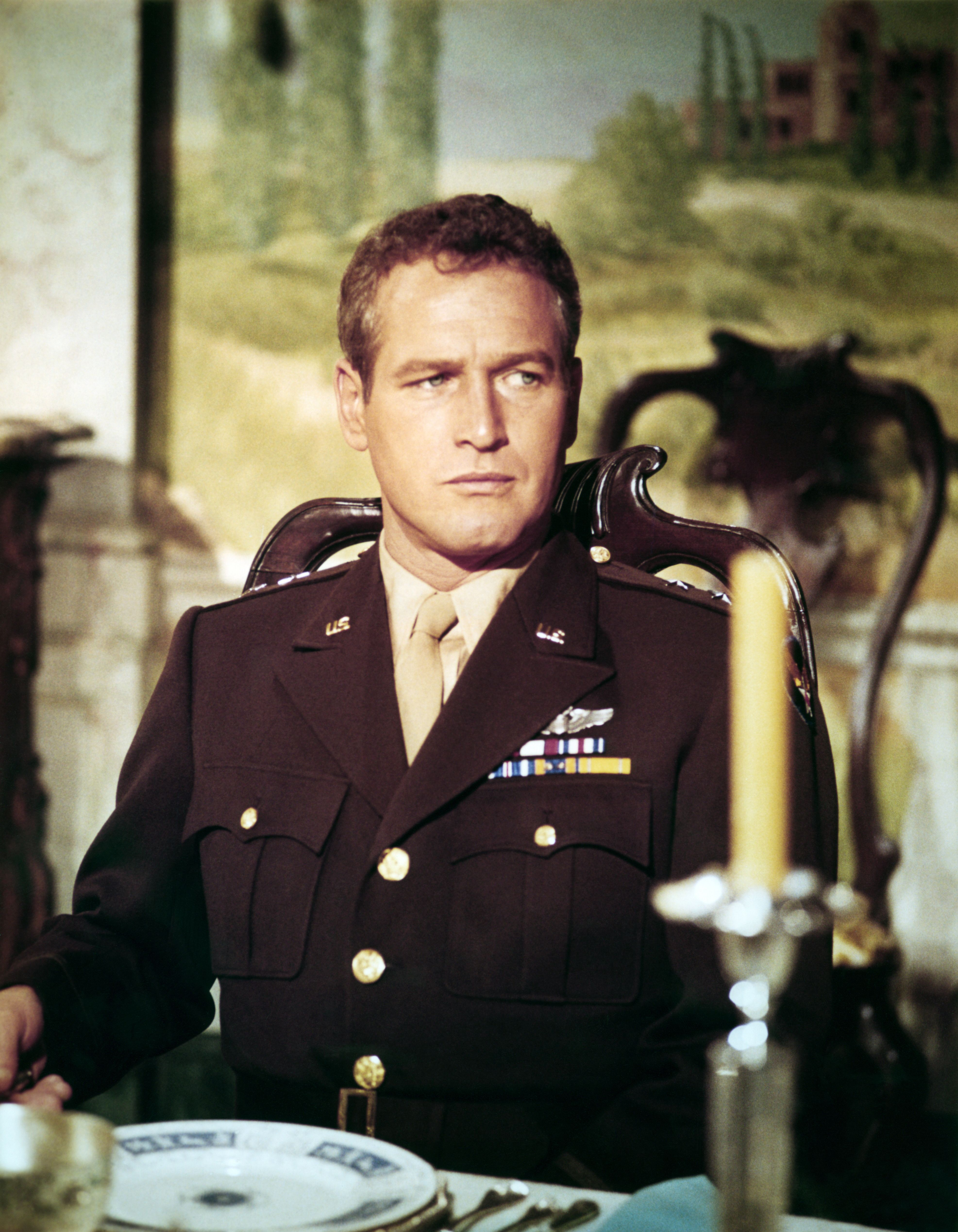 """Paul Newman on the set of """"The Secret War of Harry Frigg"""" in 1968 