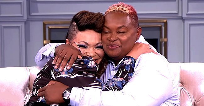 Tisha Campbell and her long lost sister, Ellen | Photo: Youtube/The Real Daytime