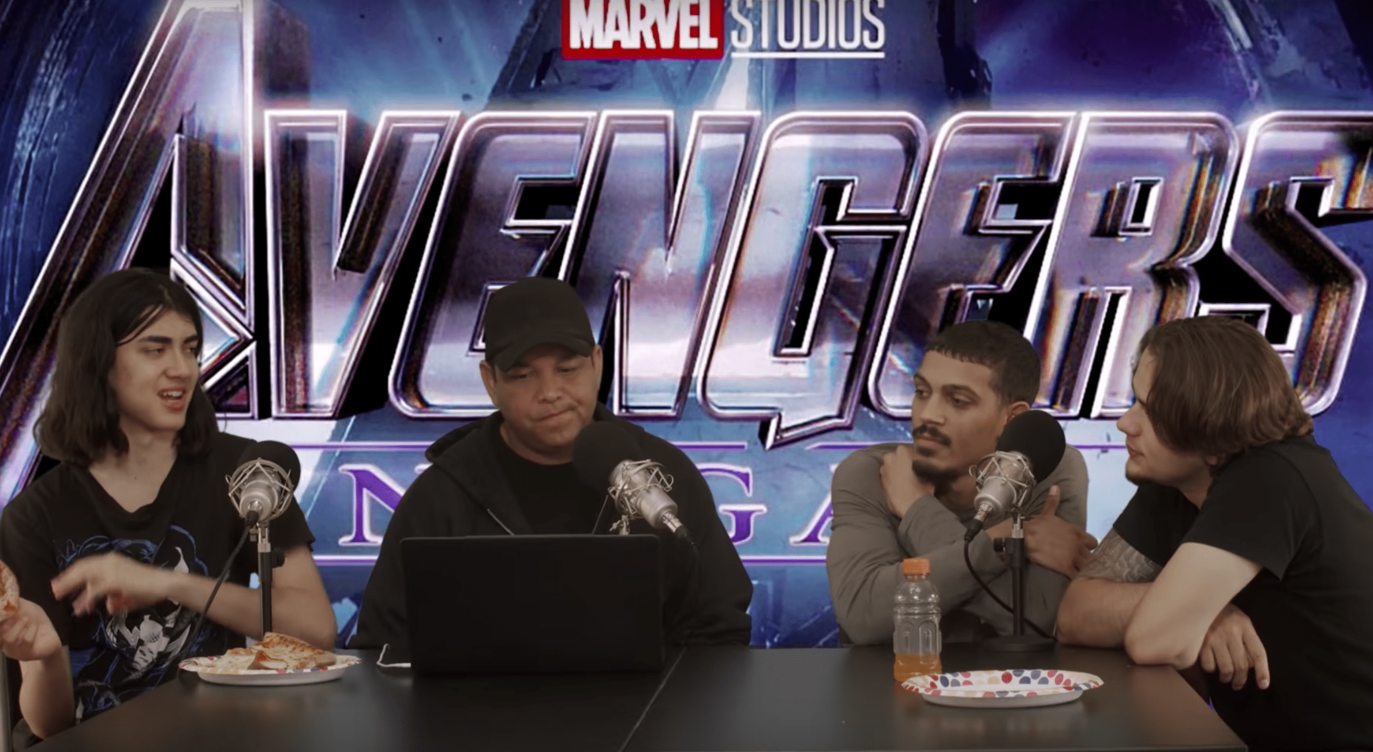 The Jackson brothers reviewing Avengers: End Game on their YouTube channel with James Sutherland. | Source: YouTube/LifeOn2