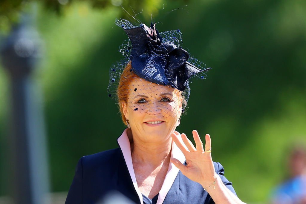 Sarah, Duchess of York arrives at St George's Chapel at Windsor Castle before the wedding of Prince Harry to Meghan Markle | Photo: Gareth Fuller - WPA Pool/Getty Images