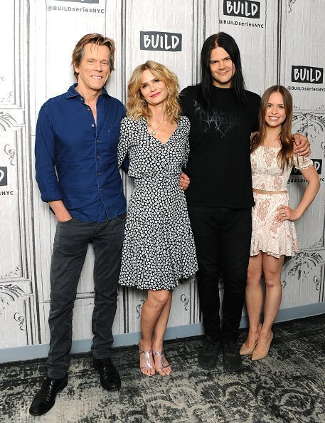 Kevin Bacon's happy family. Source: Getty images