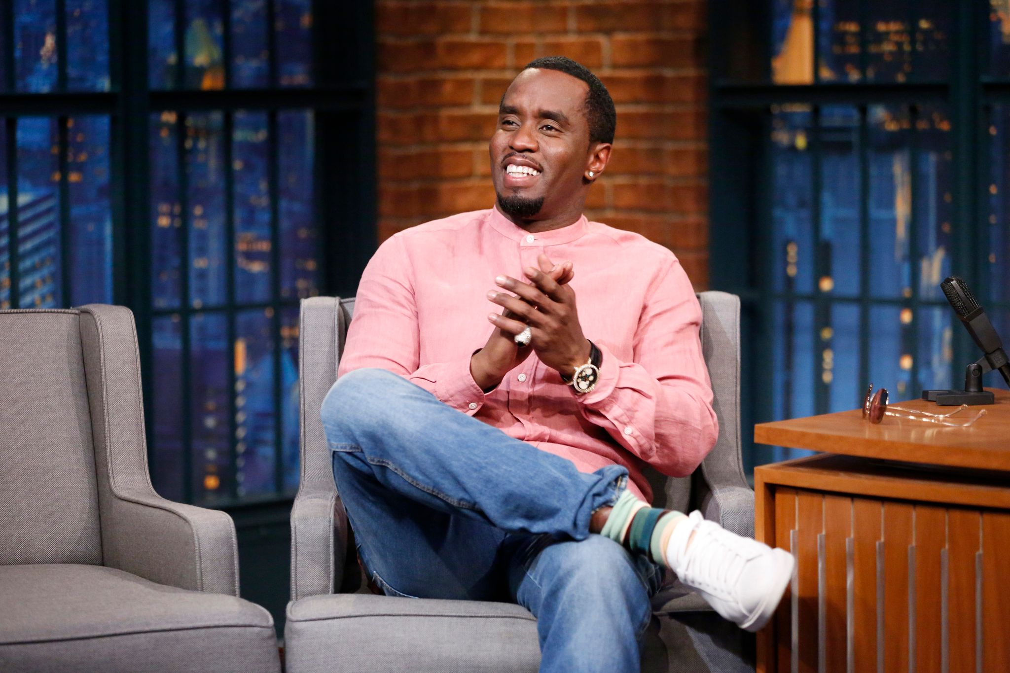 "Diddy at the ""Late Night with Seth Meyers"" show on June 28, 2017. 