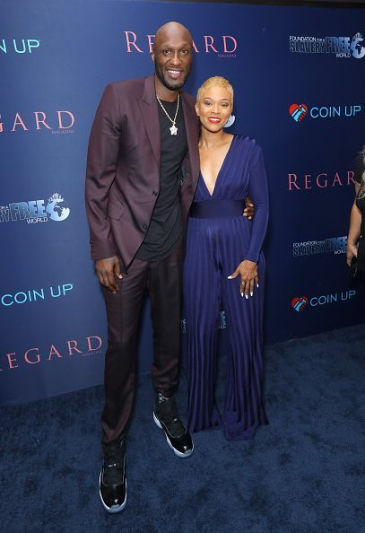 Lamar Odom and Sabrina Parr at the Regard Magazine on October 02, 2019 | Photo: Getty Images