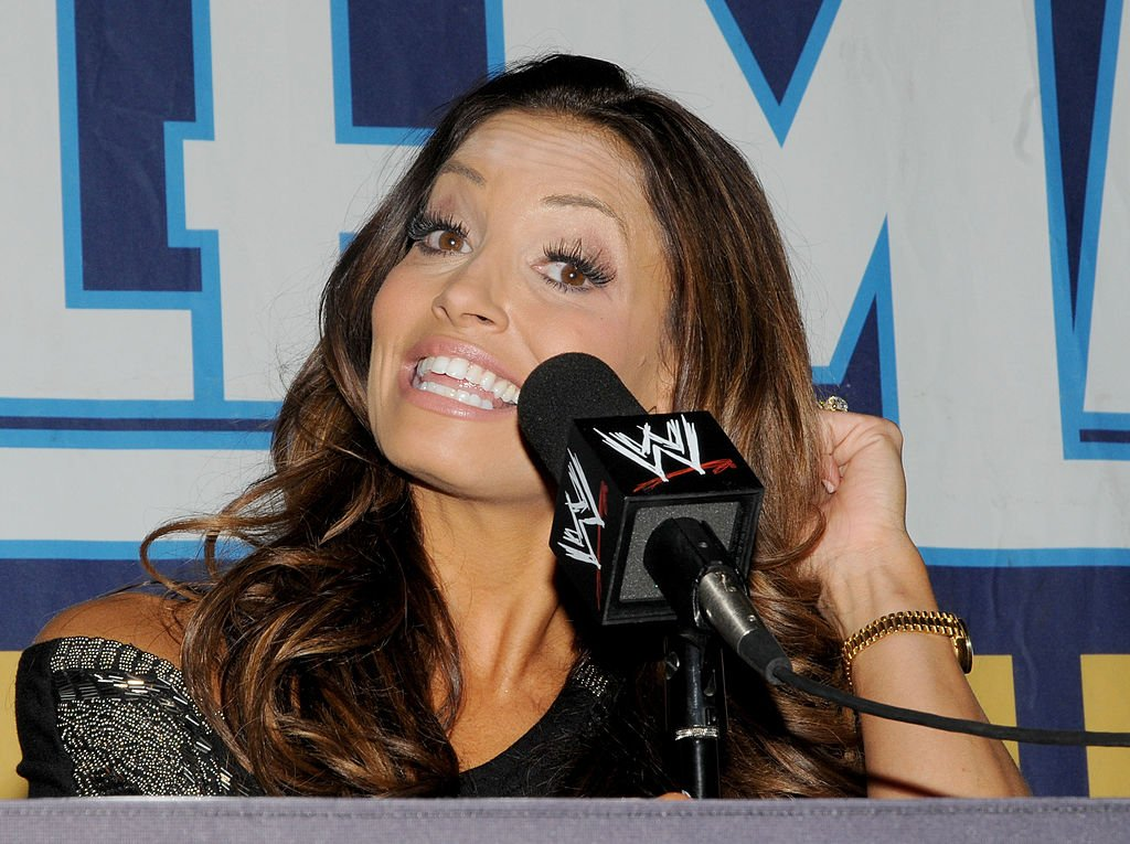 Wrestler Trish Stratus attends WrestleMania XXVII press conference at Georgia Dome on April 3, 2011. | Photo: Getty Images