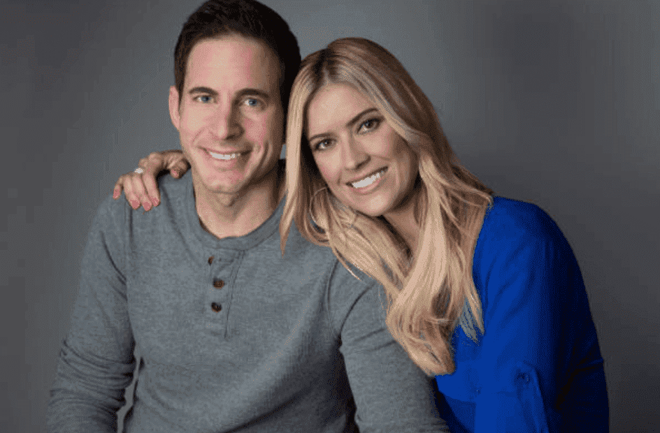 """Flip or Flop"" co-hosts Christina Anstead and Tarek El Moussa on November 2017, in Los Angeles, California 