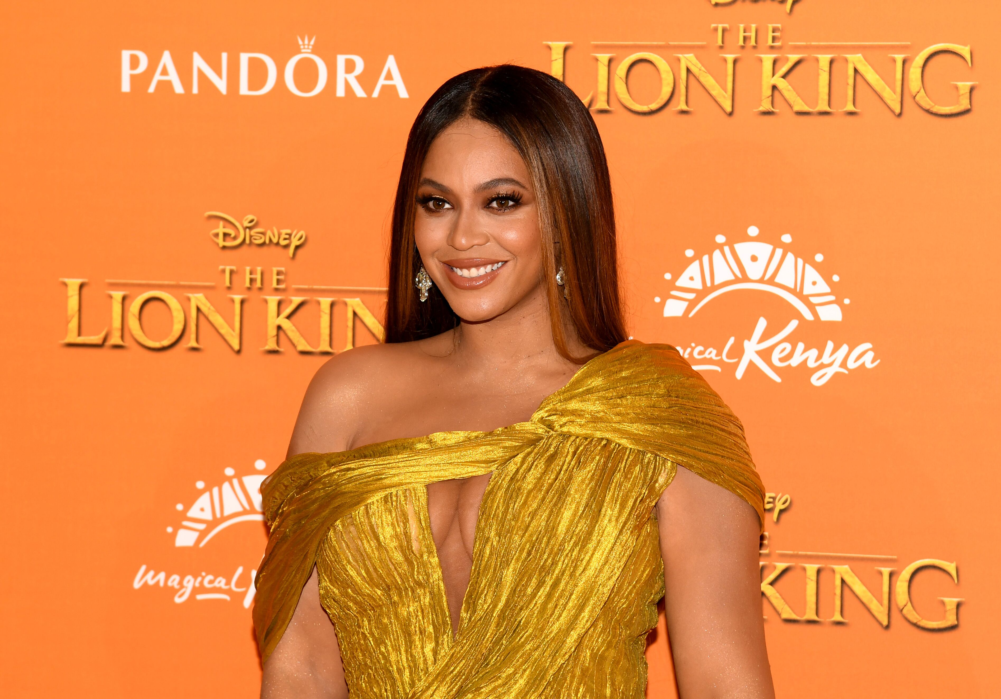 """Beyonce at the """"Lion King"""" movie premiere 