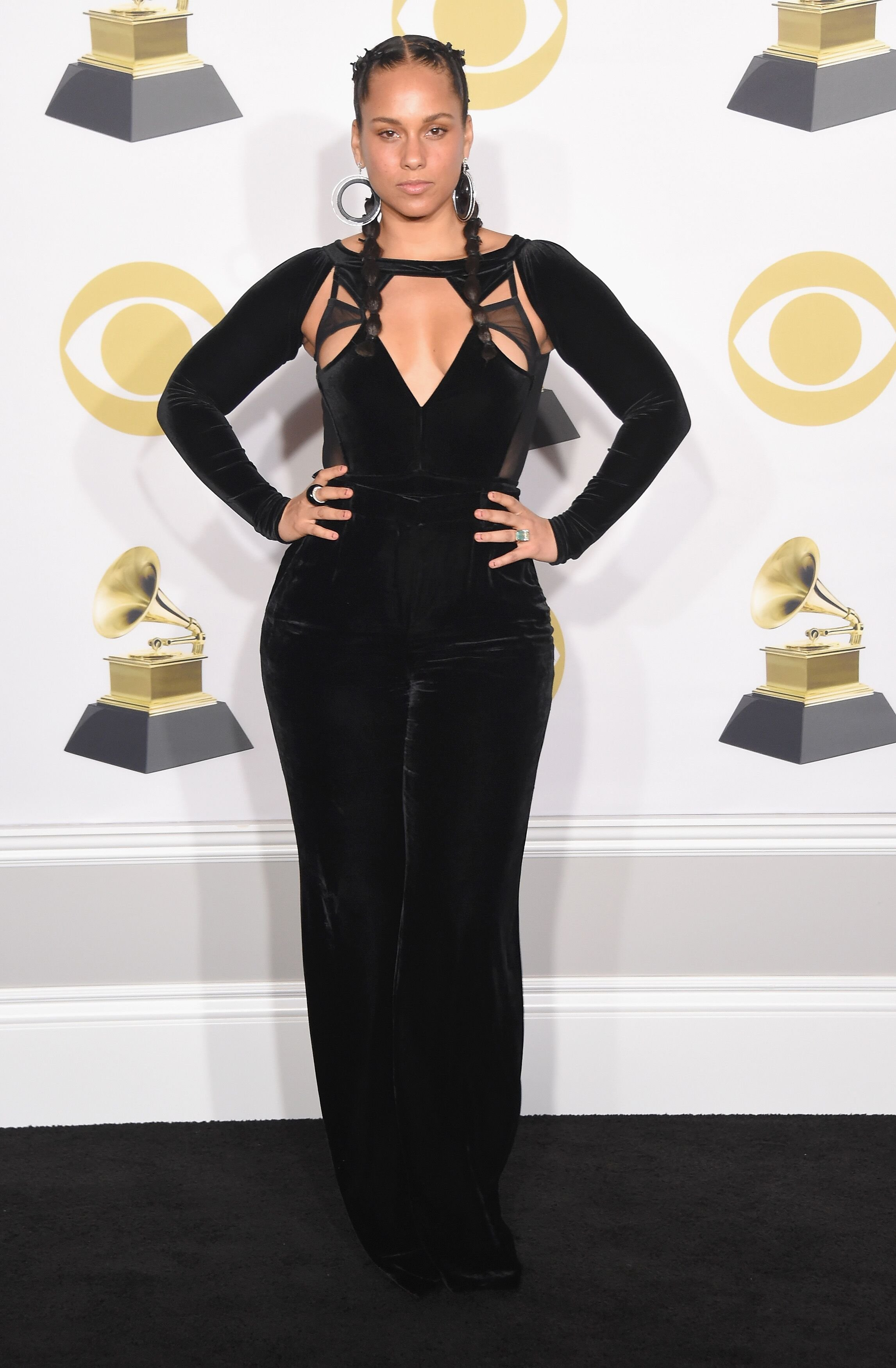 Alicia Keys poses in the press room during the 60th Annual GRAMMY Awards at Madison Square Garden | Photo: Getty Images