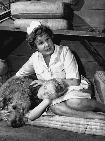 """Shirley Booth and Bobby Buntrock in """"Hazel."""" 
