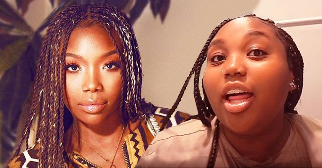 Brandy's Daughter Sy'rai Looks a Lot like Her Mom in YouTube Tutorial Video about Skincare