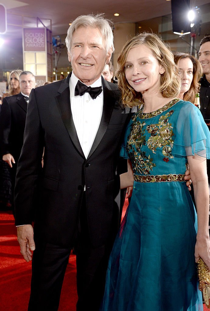 Actors Harrison Ford (L) and Calista Flockhart attend the 73rd Annual Golden Globe Awards held at the Beverly Hilton Hotel | Photo: Getty Images