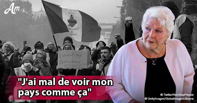 """Line Renaud appelle visiblement les """"gilets jaunes"""" à se calmer: """"Ça va finir dans le chaos"""" (Vidéo)"""