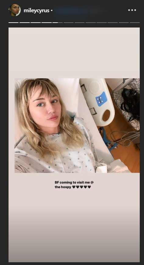 Miley Cyrus waiting on Cody Simpson to visit her in hospital | Source: instagram.com/mileycyrus