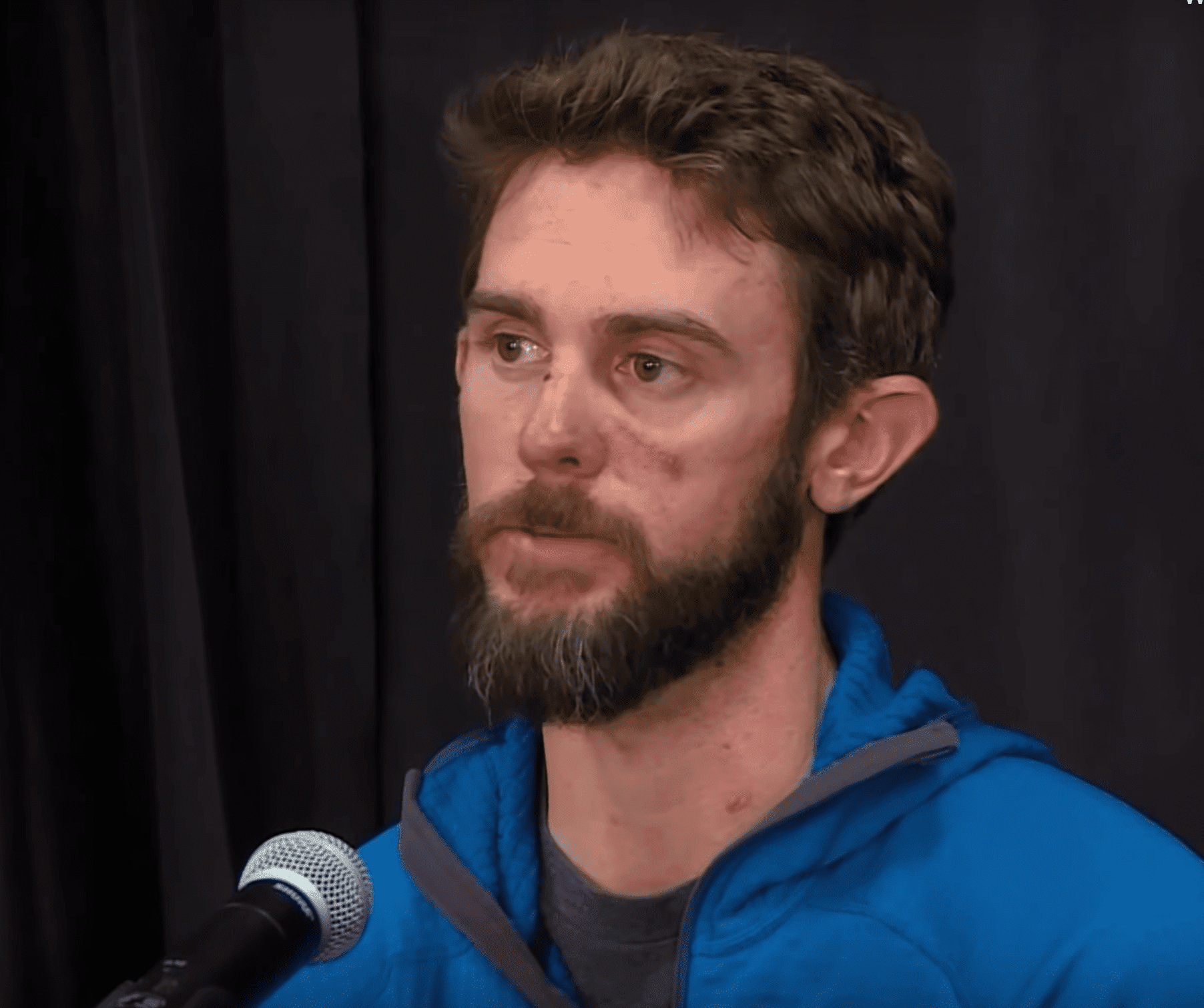 The runner who killed a mountain lion with his bare hands. | Source: YouTube/nbcnews