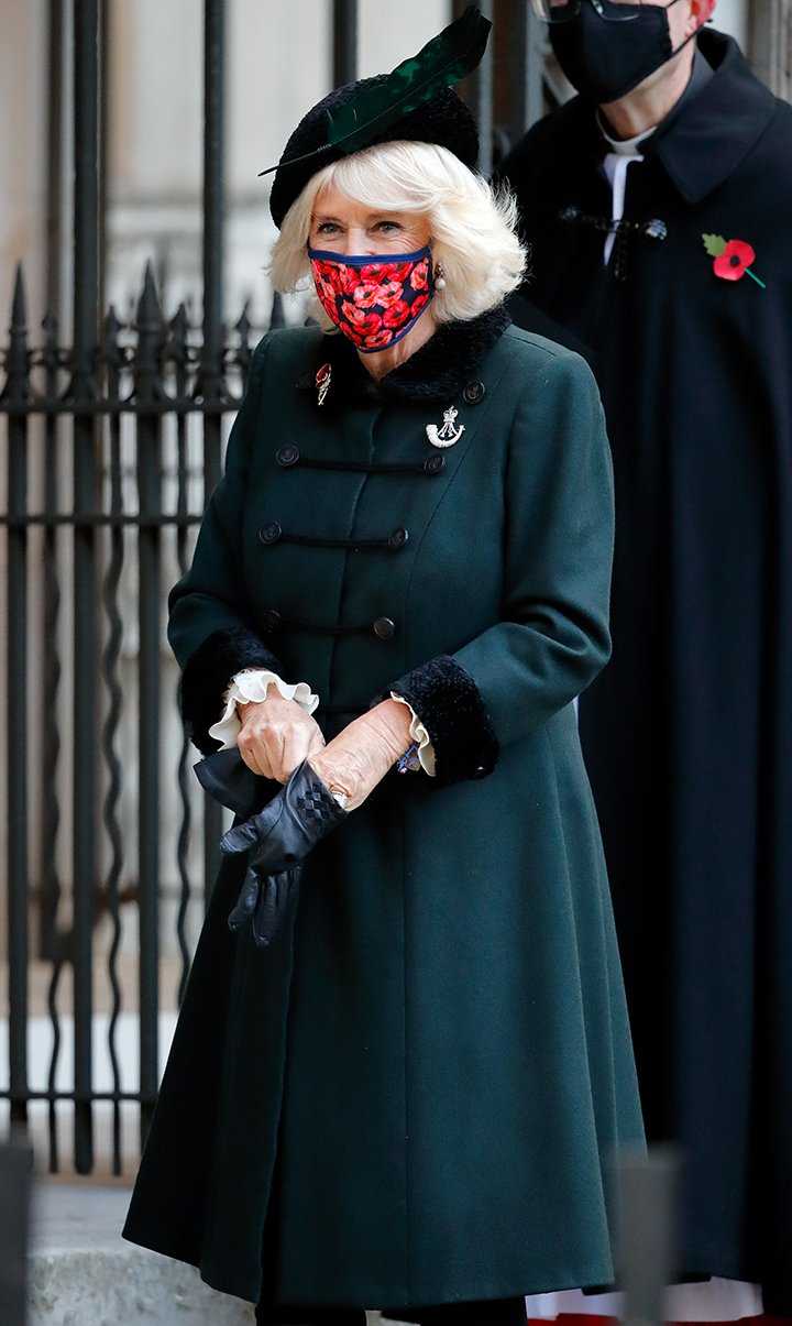 Camilla, Duchess of Cornwall visiting the 92nd Field of Remembrance at Westminster Abbey in London, England, in November 2020. I Image: Getty Images.