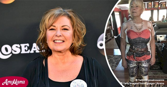 Roseanne Barr dispells rumors about suffering a heart attack and attaches a photo of herself