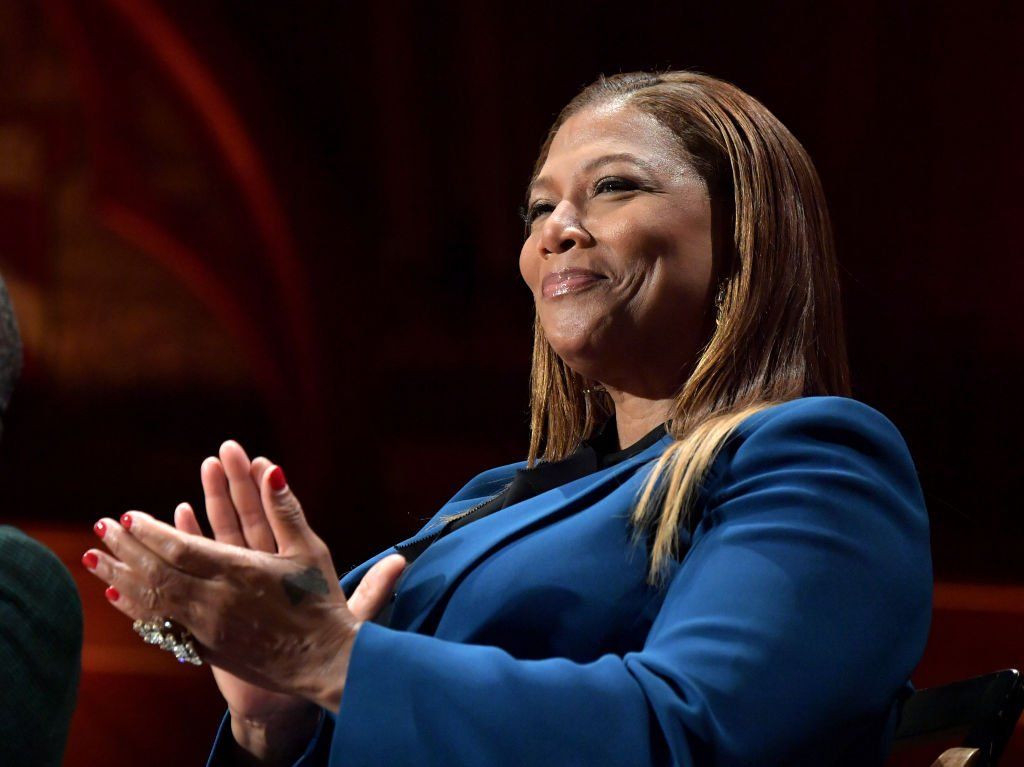 Queen Latifah on stage at the W. E. B. Du Bois Medal Ceremony at Harvard University on October 22, 2019. | Photo: Getty Images