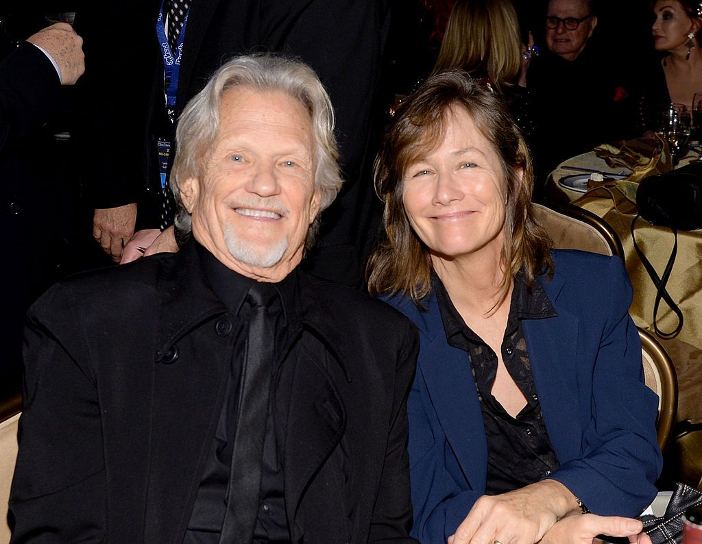 Kris Kristofferson and Lisa Meyers during the 56th annual GRAMMY Awards Pre-GRAMMY Gala at The Beverly Hilton on January 25, 2014 in Beverly Hills, California. | Source: Getty Images