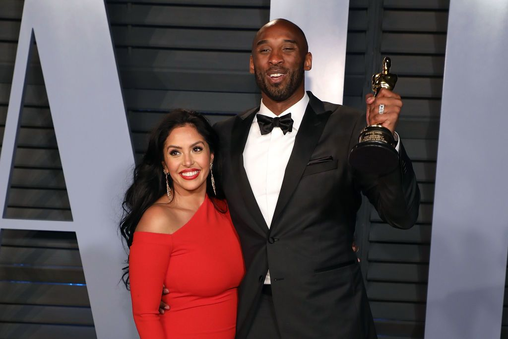 Vanessa Bryant and Kobe Bryant during the 2018 Vanity Fair Oscar Party hosted by Radhika Jones at Wallis Annenberg Center for the Performing Arts on March 4, 2018 in Beverly Hills, California.   Source: Getty Images