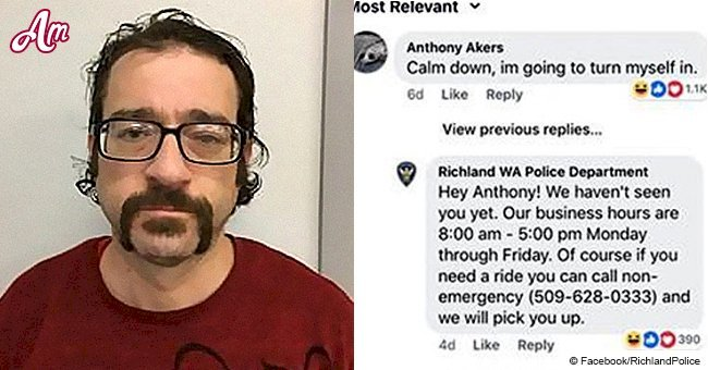 Man's hilarious response to his own police 'wanted' post on Facebook goes viral