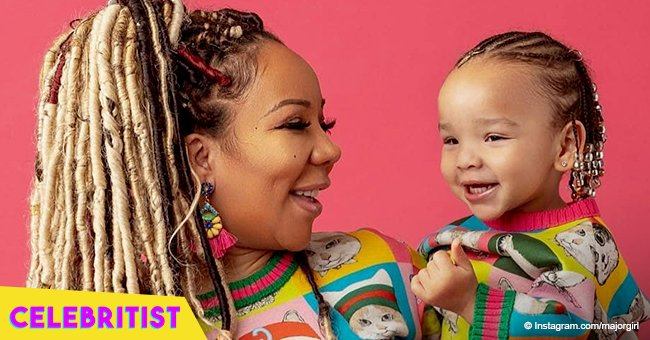 Tiny Harris stuns in matching bathing suit with Baby Heiress amid T.I.'s cheating scandal
