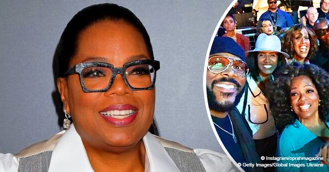 Oprah is all smiles in picture with Tyler Perry and Ava DuVernay at Beyoncé's concert