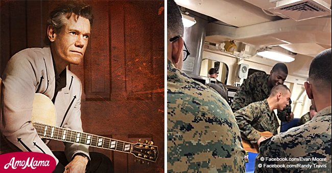 Marine performs a Randy Travis hit and his powerful singing goes viral