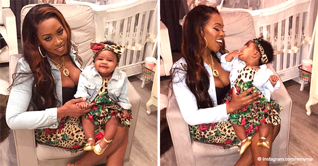Remy Ma and Daughter Reminisce Go Twinning in Floral & Leopard Print Outfits (Photos)