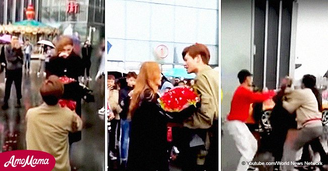 Girl rejected rich guy's public proposal near luxury car and his bizarre tantrum went viral