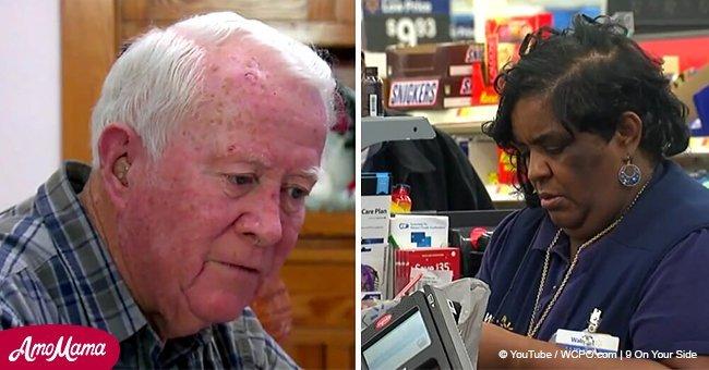 Ce grand-père a tendu 2 300$ à une caissière de Walmart, mais cette dernière a refusé de les transférer à son